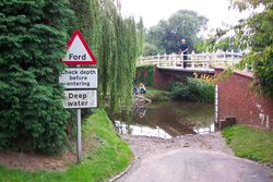 Ford sign Rolleston on Dove Derbyshire.JPG