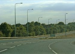 Junction of A12 with A1023 & B1002 Brentwood, Essex - Geograph - 724390.jpg