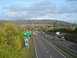 The A5 meets the A49 - Geograph - 1036639.jpg