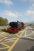 Welsh Highland train crosses road at... (C) John Firth - Geograph - 2111471.jpg