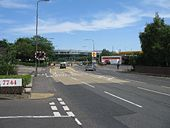 Telford Road approaching Crewe Toll roundabout - Geograph - 1373007.jpg