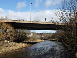A1 crosses the River Derwent - Geograph - 715780.jpg