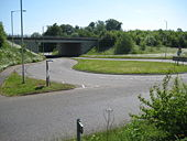 Hemel Hempstead- A414 road at the A41 junction.jpg