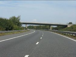 M49 Motorway - minor road overbridge south of Dyer's Common - Geograph - 2081590.jpg