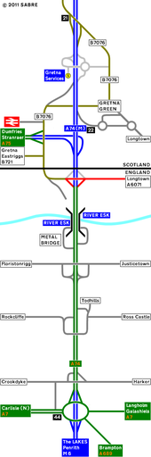 1994 Strip Map of the A74 I - Coppermine - 2268.JPG