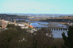 Bideford bridges from Upcott Hill (C) A Darling - Geograph - 867952.jpg