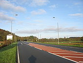 A fast section of the A4096 approaching the A4547 Bangor road - Geograph - 269039.jpg