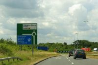 The A43 approaching the northbound M40 - Geograph - 4273739.jpg