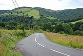 The B4518 south of Llanbrynmair - Geograph - 856756.jpg