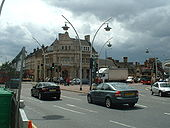 A123-A118 Cranbrook Road-Ilford Hill junction, Ilford - Coppermine - 13603.jpg