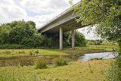Bridge carrying A31 Alresford bypass over River Itchen - Geograph - 866183.jpg