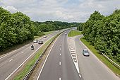 A34(T) seen from bridge at Three Maids Hill - Geograph - 825382.jpg