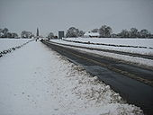A38 in snow near Earl's Croome - Geograph - 1670439.jpg