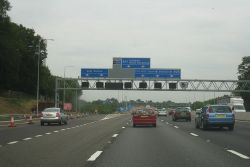 Grand gantry on the M25 - Geograph - 2440226.jpg
