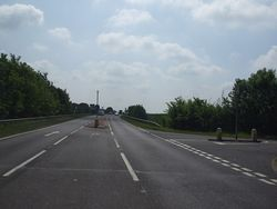 A17 junction with the B6403 at Byard's Leap - Geograph - 1339518.jpg