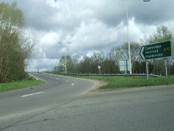 Link road between New River Arms roundabout and A10 - Geograph - 761422.jpg