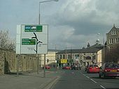 A683 junction, at the Greyhound Bridge complex in Lancaster. - Coppermine - 1444.JPG