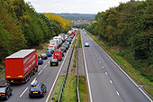 Queue on A38 approaching M1 J28 - Coppermine - 23234.jpg