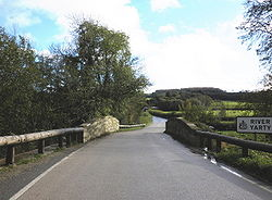 Bridge across the River Yarty, on the A30 - Geograph - 1567834.jpg