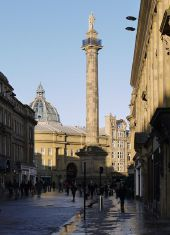 Grey's Monument from Grainger Street (C) Andrew Curtis - Geograph - 2186005.jpg