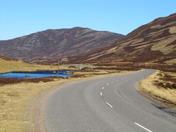 The A93 And The Bridge Over Clunie Water.jpg