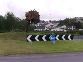 Sculpture on traffic island - Geograph - 2984098.jpg