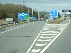 Exit road for the M69, Junction 21, M1 - Geograph - 2853664.jpg