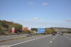 Junction 36 of the M4 at Sarn - Geograph - 1251647.jpg
