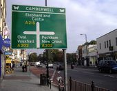 Direction sign on Denmark Hill - Geograph - 1542639.jpg