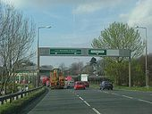 A683 junction, Lancaster, at the Greyhound Bridge complex. - Coppermine - 1443.JPG