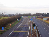 M45 joins A45 at Thurlaston - Geograph - 1090469.jpg