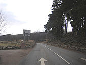 Turning for Tomintoul, A93 - Geograph - 1724396.jpg