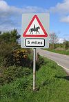 Very advanced warning of horses in the road - Coppermine - 5981.jpg
