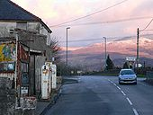 A Disused Filling Station with Elidir Fawr in the distance - Geograph - 126359.jpg