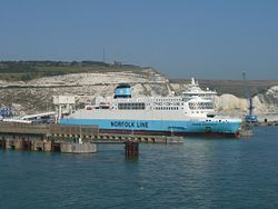 Norfolk Line ferry at Eastern Dock, Dover - Geograph - 587634.jpg