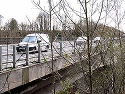 Traffic on the Coquet Viaduct - Geograph - 1802704.jpg
