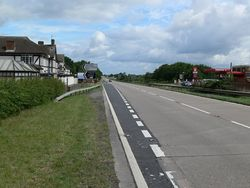 North along the A46 Fosse Way at Six Hills - Geograph - 876980.jpg