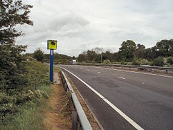 Speed camera on the A43 - Geograph - 430843.jpg