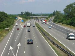 M23 Junction 9 - Gatwick Airport Spur Road, West Sussex - Geograph - 27708.jpg