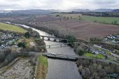 A862 Conon Bridge - three bridges aerial from East.jpg