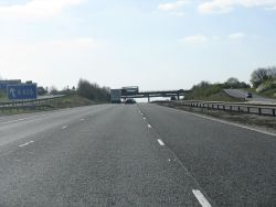 M6 Motorway at junction 1 (C) K. Whatley - Geograph - 1817486.jpg