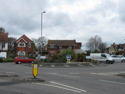 Roundabout at the top of Hill Lane - Geograph - 1780295.jpg
