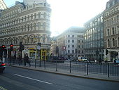 Cannon Street, junction with Queen Victoria Street - Geograph - 1596869.jpg