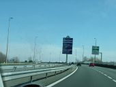 E40 heading east from Calais. I like these signs, stops HGV's blocking the view - Coppermine - 5404.JPG