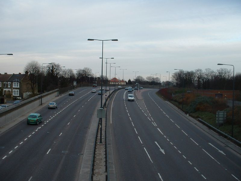 File:A12 Leytonstone looking east towards Green Man junction Coppermine.JPG
