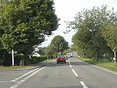 A358 Musbury, Devon - wooden signposts - Coppermine - 11472.jpg