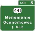 Wis-sth-441-menomonie-oconomowoc-advance-guide-sign-fictitious.png
