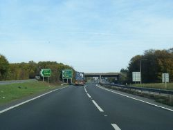 A34 northbound nears the A303 overbridge - Geograph - 4238123.jpg