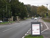 A-board and passing bay at the turn in to the Saxon Mill - Geograph - 1571116.jpg