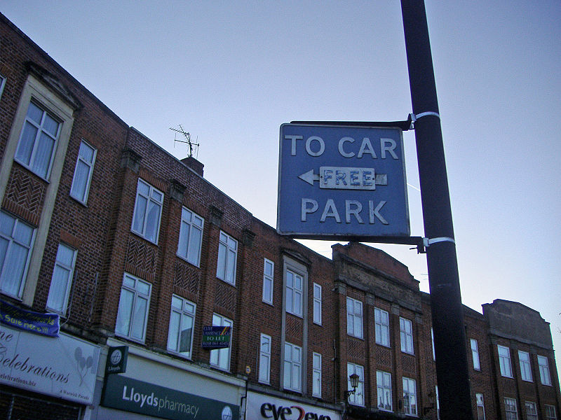 File:Old car park sign - Coppermine - 21449.JPG